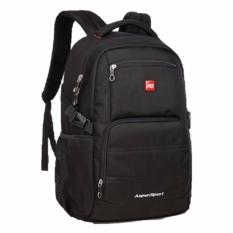 Retail High Q Polyester Big And Roomy Travel Outdoor Backpack Large Black