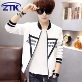 Sales Price High Quality Fast Delivery New Youth Jacket Korean Men S Coat Thin Baseball Uniform White Intl