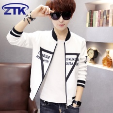 High Quality Fast Delivery New Youth Jacket Korean Men S Coat Thin Baseball Uniform White Intl In Stock