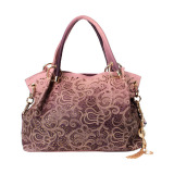 Buy High Quality Leather Elegant Women Handbag European Style Bags Pink Oem
