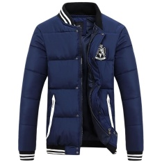 How To Get High Quality New Men S Casual Outerwear Warm Down Thicker Winter Jacket Coat Dark Blue Intl