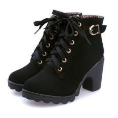 Discount High Quality Store New Hot Women Fashion High Heel Lace Up Ankle Boots Zipper Buckle Platform Shoes Oem On China