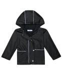 Best Price High Quality Sunweb Kids Outwear Hooded Patchwork Windbreaker Waterproof Rain Jackets With Pocket Black Intl