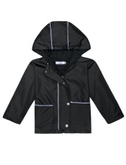 The Cheapest High Quality Sunweb Kids Outwear Hooded Patchwork Windbreaker Waterproof Rain Jackets With Pocket Black Intl Online
