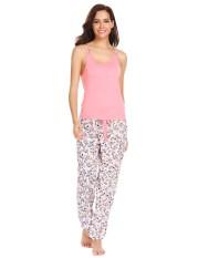 High Quality Sunwonder Women 2 Piece Sleepwear Racerback Cami Pajama Set Long Pj Pants Black Intl Not Specified Discount