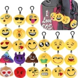 Great Deal High Service 30Pcs Mini Emoji Face Plush Key Chain Ring Cute Smiley Emoticon Soft Stuffed Toy Key Ring Intl