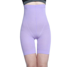 Who Sells High Waist Hip Abdomen Shaping Pants Female Underwear Summer Thin Section Postpartum Body Slimming Closing Stomach Three Points Safety Pants Violet The Cheapest