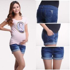 How To Buy High Waist Maternity Shorts Plus Size Denim Pants Clothes For Pregnant Women Clothing For Pregnancy Summer New Fashion Intl