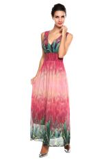 Best Sale At Breakdown Price High Waist Maxi Beach Dress Red Black