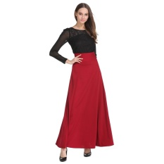 High Waist Maxi Skirt For Women Big Swing Ankle Length Long Pleated Skirt Plus Size S 5Xl Intl Best Buy