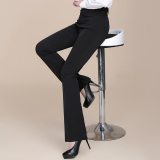 Buy High Waist Straight Women Suit Pant Lady Ol Office Work Formal Plus Size Trousers Black Intl Cheap China