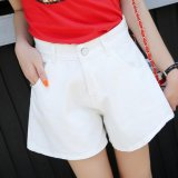 Buy High Waisted Denim Shorts For Women College Wind Loose Wide Leg Shorts Colour White Intl On China