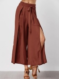 Price Comparisons For High Waisted Slit Wide Leg Pants Intl