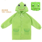 Brand New Hks Korea Childrens Raincoat Boys Girls Children Nylon Cloth No Smellgreen Zip Student Raincoat Green Frog Thin Section Intl