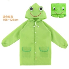 Retail Price Hks Korea Childrens Raincoat Boys Girls Children Nylon Cloth No Smellgreen Zip Student Raincoat Green Frog Thin Section Intl