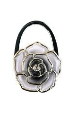 Hks Rose Foldable Handbag Purse Tote Bag Table Hanger Hook Umbrella Hanging Holder Grey Shopping