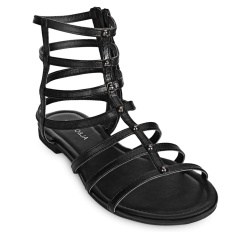 Price Hollow Out Side Zipper Ladies Flat Gladiator Sandals Intl China