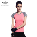 Honour Fashion Women S Patchwork Slim Sports Tees Short Sleeve T Shirt Orange Fy 114 Intl Reviews