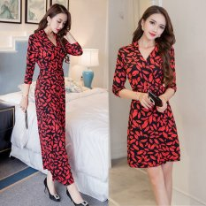 Sale Horse On Behalf Of Slit Length Sleeves Slimming Effect Bohemian Beach Dress Long Section Of Red China Cheap
