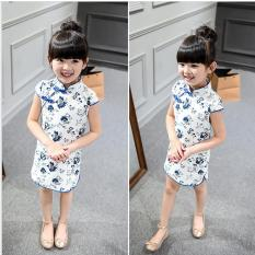 Where Can I Buy Hot Baby Kids Little G*rl Cotton Dress Trendy Qipao Short Sleeve Chinese Style Cheongsam Clothes Tang Suit Baby Princess Dresses For 2 8T Intl