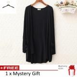 Hot Fashion Lady Long Sleeve Cardigan Long Thin Jacket Pocket Black Intl For Sale Online