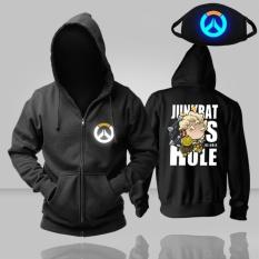 Cheapest Hot Game Overwatch Ow New Pattern Cartoon Men S Junkrat Hoodies Cosplay Costume Black Hoodie With Luminous Mask Intl
