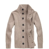 Compare Price Hot Korean Men S Wool Pure Color Simple Sweater Beige Intl On China