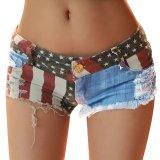 Where To Shop For Hot Pants Mini Jeans Shorts Women American Us Flag Denim Intl