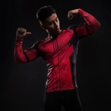 Lowest Price Hot Sale 3D Printed Deadpool T Shirts Men Long Sleeve Compression Shirt Flash Cosplay Costume Quick Drying Crossfit Fitness Clothing Tops Intl