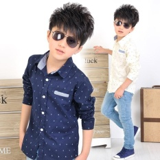 Low Price Hot Sale Classic Style Children Boys Shirts Fashion Print Anchors Cotton Kids Clothing Intl