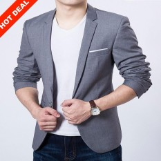 Hot Sale Mens Autumn Clothing Costume Jacket Blazer Cardigan Suits Jackets Coat - Intl By Sh Pioneer.