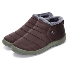 Best Offer Hot Women S Winter Warm Fabric Fur Lined Slip On Ankle Snow Boots Sneakers Shoes Coffee Intl Intl