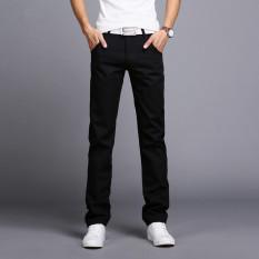 Hotyv Korean Fashion Men S Cotton Straight Casual Pants Hpt031 Black Best Buy
