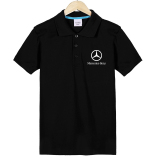 Compare Huahuawangzi Black 4S Shop Men S Short Sleeved Polo Shirt T Shirt Black Left Chest Plus English Prices