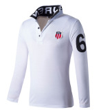 Huaway Men S Fashion Fitness Casual Long Sleeve Polo Shirts White Oem Discount