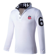 Sale Huaway Men S Fashion Fitness Casual Long Sleeve Polo Shirts White Oem Cheap