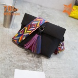 Sale Hyx Big Selling Women Casual Synthetic Leather Tassel Decor Flap One Shoulder Bags Black Intl Online China