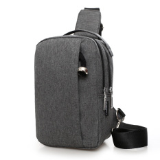 Best Rated I Casual Travel Men And Women Small Men S Bag Chest Pack Dark Gray Color