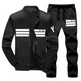 Men S Korean Style Slim Fit Sports Polo Two Piece Black Y8 Black Y8 For Sale Online