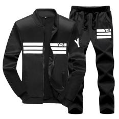Price Men S Korean Style Slim Fit Sports Polo Two Piece Black Y8 Black Y8 China