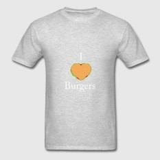 Who Sells I Love Burgers Design Men S Cotton O Neck Short Sleeved T Shirt Intl The Cheapest