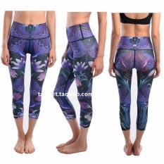 Cheap I Multi Color Female Slim Fit Slimming Yoga Pants Dragonfly Deep Purple Online