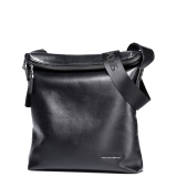Imported Sammons Men Real Genuine Cowhide Leather Purse Messenger Shoulder Cross Body Bag Flap Black In Stock