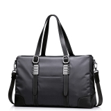 Imported Sammons Men S Waterproof Nylon Genuine Leather Purse Satchel Tote Hand Bag Weekender Black In Stock