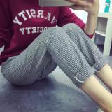Sale Loose Casual Cotton Linen Spring New Style Pants Dark Gray Dark Gray Oem Online