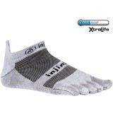 Injinji Run Lightweight No Show Toe Socks Gray Free Shipping