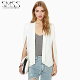 Who Sells Ink Landscape Spring And Autumn New Style European And American Casual Shawl Cape Coat Vest Long Sleeved Small Suit Female White Cheap