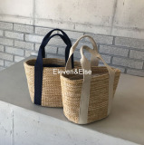 Research On Ins Casual Summer New Style Hot Selling Beach Bag Handbag Dark Blue Color Tape Other Discount
