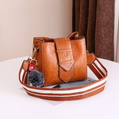 Purchase Ins Fashion G*rl S Super Fire Bag Shoulder Strap Bag Yellowish Brown Color