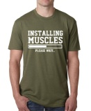 Installing Muscles Print T Shirt Men 2017 Fashion Brand Hip Hop Tops Custom Casual Fashion Men S Cotton O Neck T Shirt Army Green Intl Online